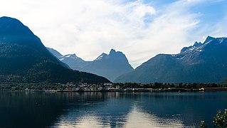 Trail biking in Rauma, Møre og Romsdal, Norway