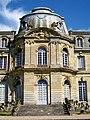 Épinay-Champlâtreux (95), château de Champlâtreux, façade principale ouest, pavillon central.jpg