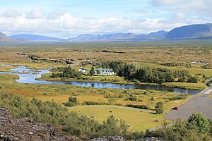 Þingvellir - Þingvellir from the information centre overlook