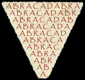 Serenus Sammonicus - Serenus Sammonicus advocated the use of abracadabra as a literary amulet against fever