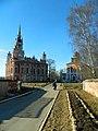 Ансамбль Можайского кремля. Ново- Никольский собор (слева) и церковь Петра и Павла..JPG