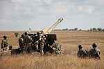 Артилеристи окремої артбригади відпрацювували на навчаннях нові способи бойового ураження противника (29918038291).jpg