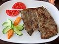 Говедски бифтек, Beef steak cooked on charcoal grill.jpg