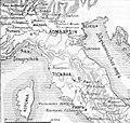 Карта к статье «Гарибальди, Джузеппе» № 2. Военная энциклопедия Сытина (Санкт-Петербург, 1911-1915).jpg