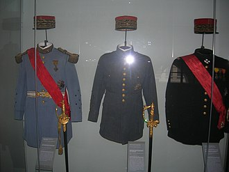 Philippe Pétain - Uniforms of Marshal of France (Pétain, Foch, Joffre) at Les Invalides.