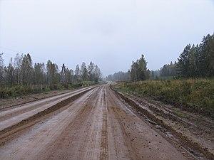 Baikal Highway -  Baikal Highway. Segment Krasnoyarsk-Irkutsk. Near  Taishet.