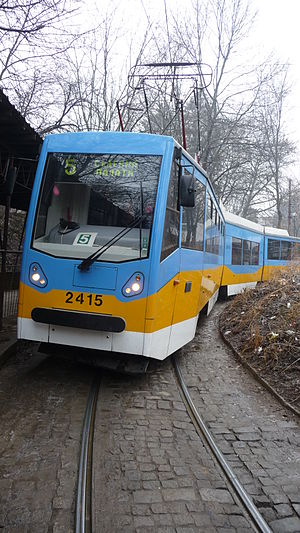 Inekon Trams - An Inekon-refurbished tram in Sofia, Bulgaria