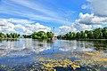Царское Село. Большое озеро и Чесменская колонна в Екатерининском парке 2.jpg