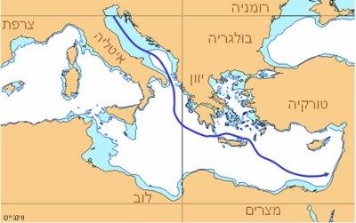 אוניית המעפילים אורד וינגייט - מסלול