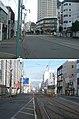北海道道83号函館南茅部線・北海道道571号五稜郭公園線交点(上:起点側から、下:終点側から).jpg