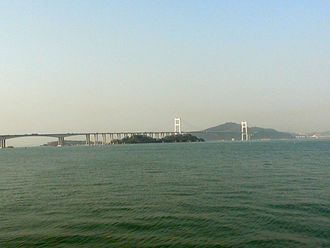 Guangdong - Pearl River and Humen Bridge