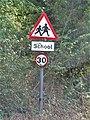 -2019-09-22 School children warning sign, Nut Lane, Northrepps.JPG