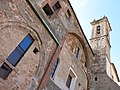 059 Sant Jeroni de la Murtra, arcs de les capelles l'antiga església i campanar.JPG