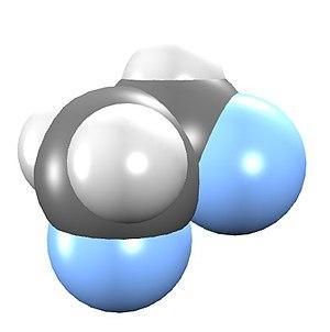 1,2-Difluoroethane - Image: 1,2 Difluroethane Spacefill Model