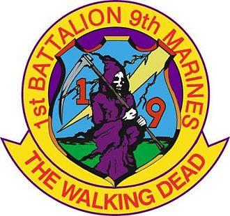 1st Battalion, 9th Marines - 1/9 Insignia
