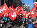 1. Mai 2013 in Hannover. Gute Arbeit. Sichere Rente. Soziales Europa. Umzug vom Freizeitheim Linden zum Klagesmarkt. Menschen und Aktivitäten (074).jpg