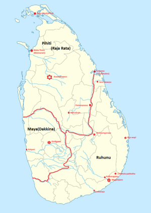 Provinces of Sri Lanka - Image: 1000pxancien trisinhalaya locator map svg