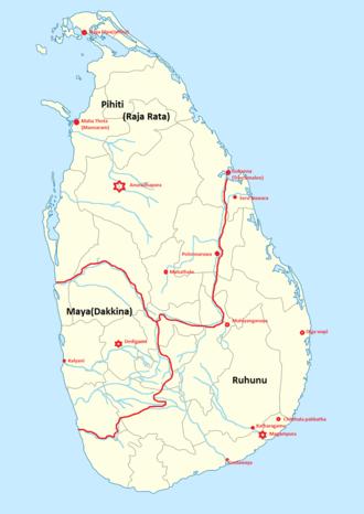 Provinces of Sri Lanka - Image: 1000pxancien trisinhalaya locator map svg