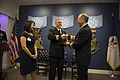 121127-N-WL435-068 Chief of Naval Operations (CNO) Adm. Jonathan Greenert presents the Vice Adm. James Bond Stockdale Leadership Award to Cmdr. Chase Patrick.jpg