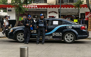 Law enforcement in Mexico - Police officers in Mexico City