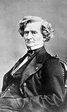 Cabinet card photo of Hector Berlioz by Franck, Paris, ca. 1855.