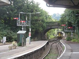 Yeovil Pen Mill railway station - Semaphore signals at Pen Mill