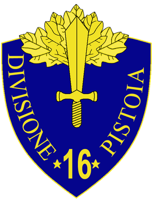 16th Infantry Division Pistoia - 16th Infantry Division Pistoia Insignia