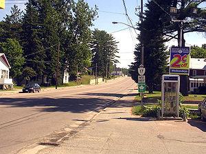 Mattawa, Ontario - Highway 17 in Mattawa.