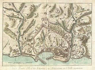 Timeline of Genoa - Map of Genoa, ca.1800