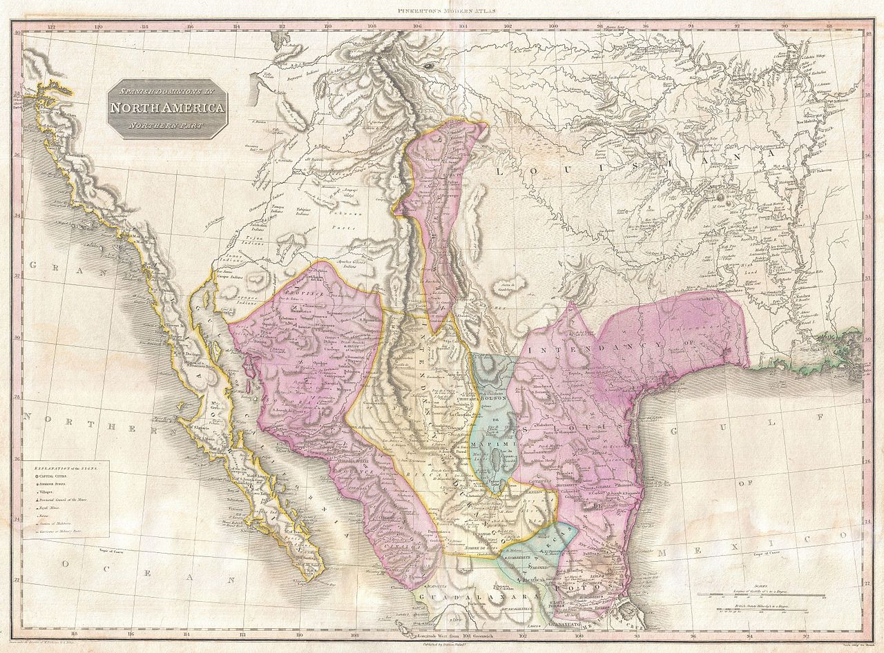 File:1818 Pinkerton Map of the American Southwest ( California ...