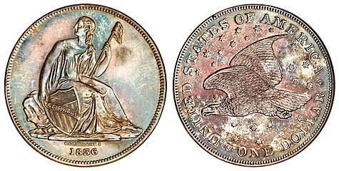 The flying eagle reverse of the Gobrecht dollar