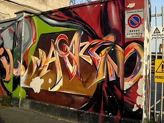 1851 - Milano - Graffiti lungo il Naviglio Grande - Foto Giovanni Dall'Orto, 24-Jun-2008.jpg