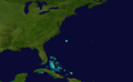 1851 Atlantic tropical storm 5 track.png