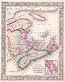 1864 Mitchell Map of Nova Scotia and New Brunswick, Canada - Geographicus - NovaScotia-mitchell-1864.jpg
