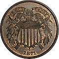1871 Proof Two-cent piece obverse.jpg