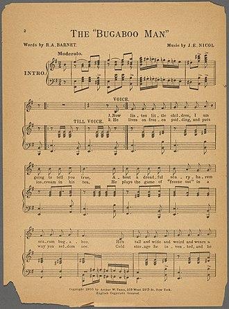 Robert Ayres Barnet - Image: 1900 Bugaboo Man New York World June 10 NYPL p 2