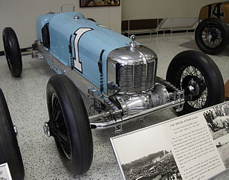1925 Indianapolis 500 - Image: 1925 Miller Junior Eight
