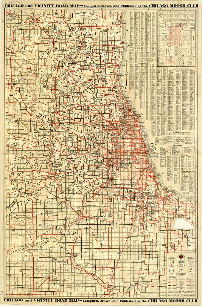 file1930 chicago and vicinity road map by chicago motor clubjpg