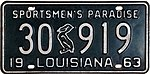 1963 Louisiana license plate 30 919.jpg