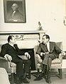 1970. Reunión con el presidente Richard Nixon en la Casa Blanca, Washington, en su visita oficial a USA.jpg