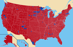 Electoral history of George McGovern - 1972 presidential election by county results