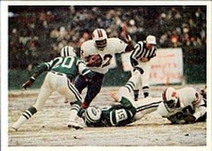 2,000-yard club - Buffalo Bills' O.J. Simpson pictured in the game where he became the first running back to gain over 2,000 yards in a season on Dec. 16, 1973. Simpson led the NFL in rushing in 1972, 1973, 1975, and 1976.