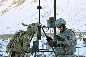 19th Expeditionary Weather Squadron - 19 EWXS members installing a weather station in Afghanistan in Dec. 2011