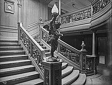 Photo du Grand Escalier arrière, pont B de l'Olympic.