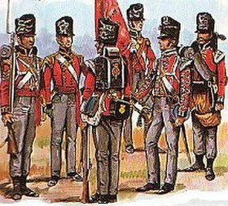 British Army during the Napoleonic Wars - Soldiers of the 1st Foot Guards
