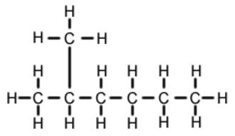 2-Methylhexane - Image: 2 methylhexane