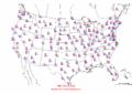 2002-10-02 Max-min Temperature Map NOAA.png