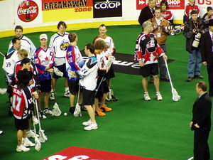 National Lacrosse League All-Star Game - All Stars during the skills competition, 2005, Calgary