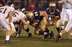 Snap (gridiron football) - Exchange of the snap between the center's legs.