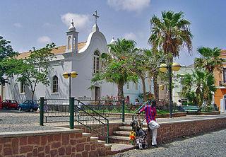 City center of Mindelo Neighborhood in Mindelo, São Vicente Island, Cape Verde